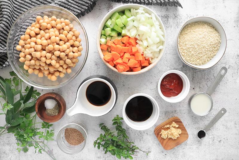 Vegan meatloaf ingredients