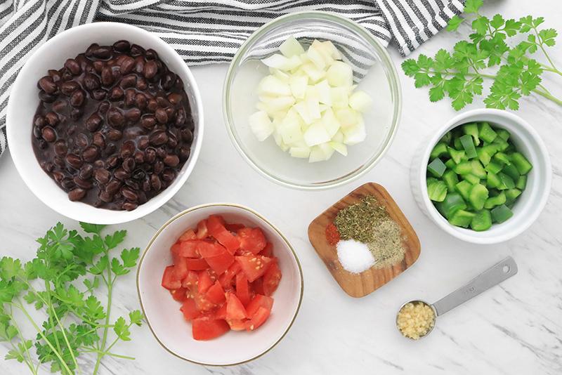 ingredients for making canned black beans taste better