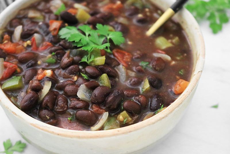 canned Black Beans prepared much better!
