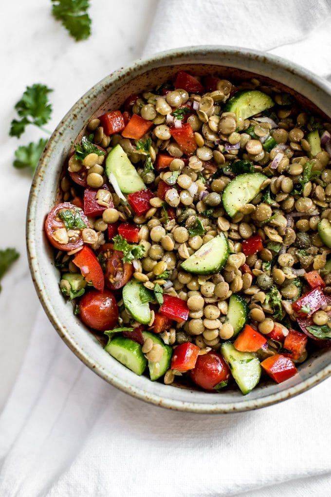 Green Lentil Salad by Salt & Lavender