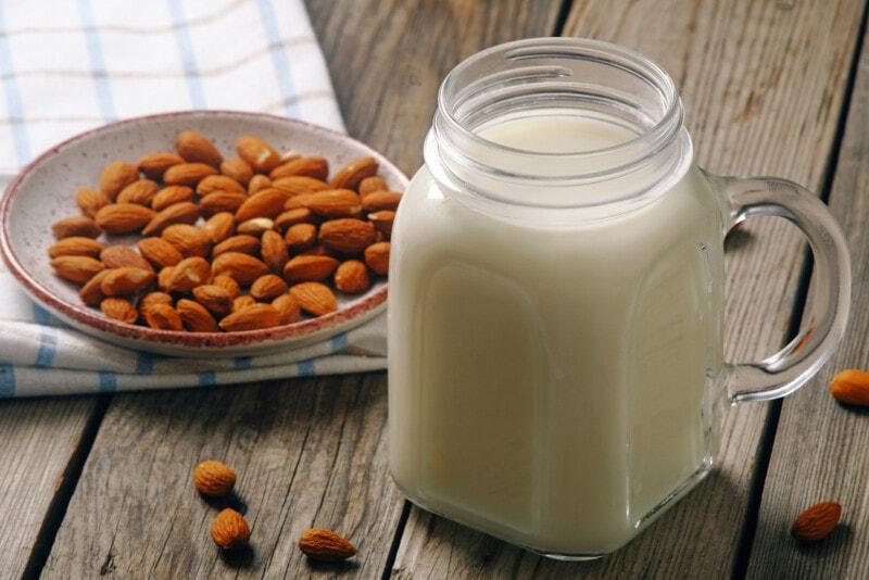 Almond Milk in Jar