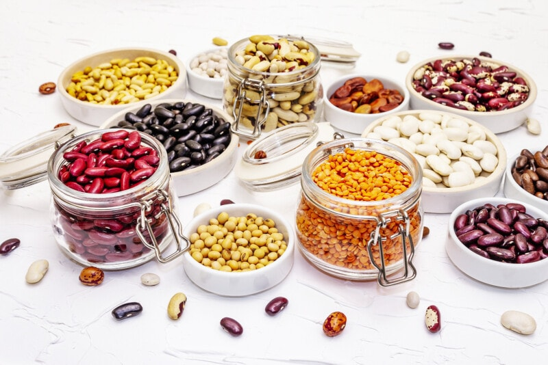 Assorted Different Types of Beans