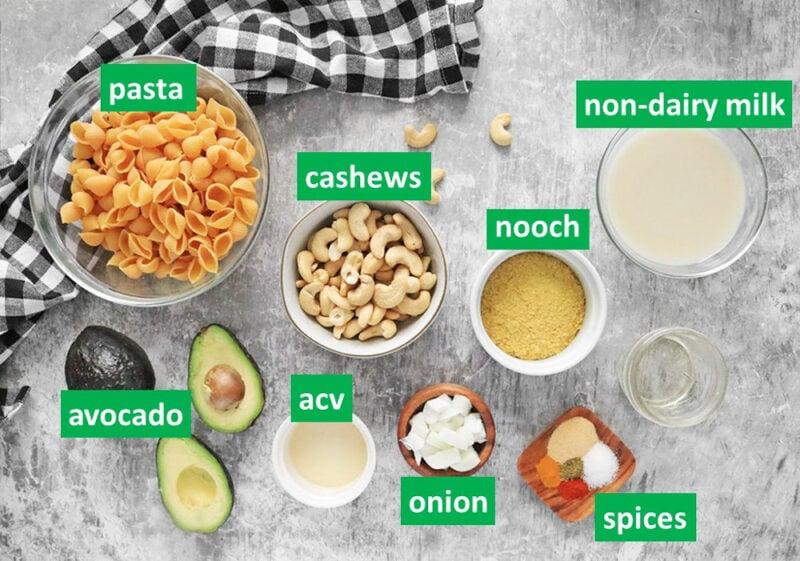 Creamy Avocado Mac and Cheese (Vegan)