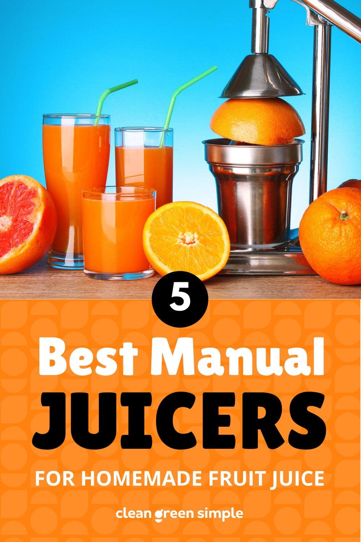 Best Manual Juicers