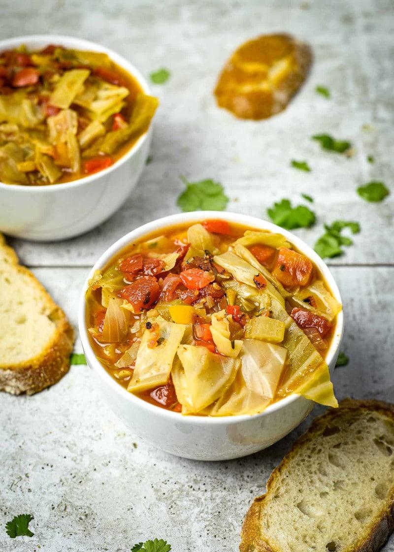 Easy Vegan Cabbage Soup