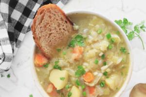 Chunky Vegan Potato Leek Soup