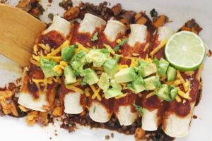 Vegan Sweet Potato Enchiladas