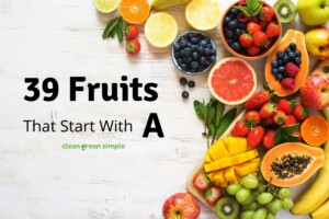 39 Fruits that start with A