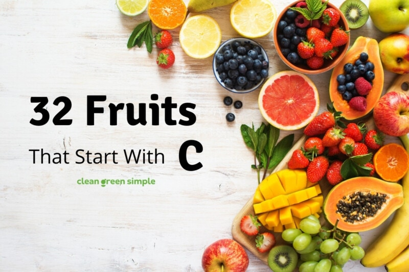 Fruits that start with C