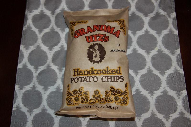 Grandma Utz's potato chips that contain lard