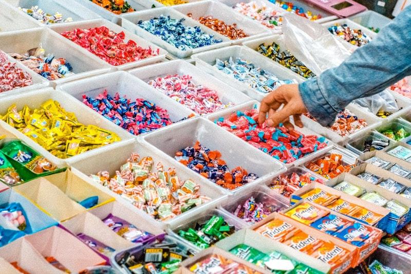 bins of gum