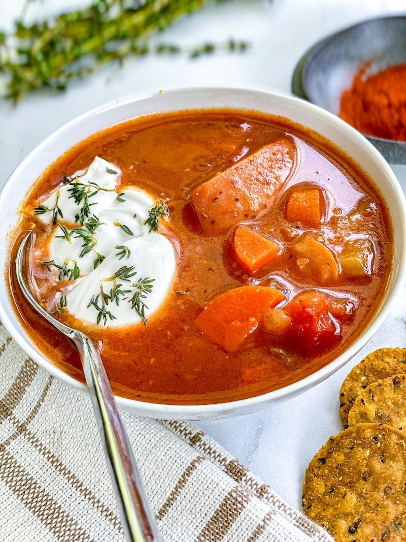 Vegan Hungarian Cabbage Soup