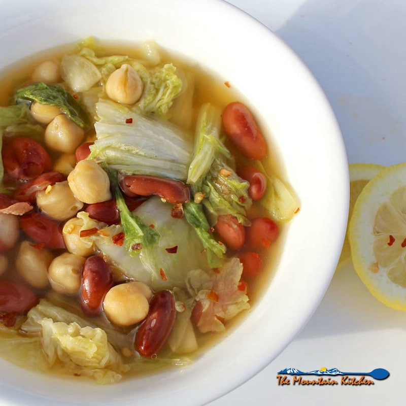 Napa Cabbage And Bean Soup