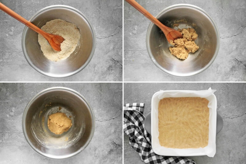 4-step process for creating the oat crust