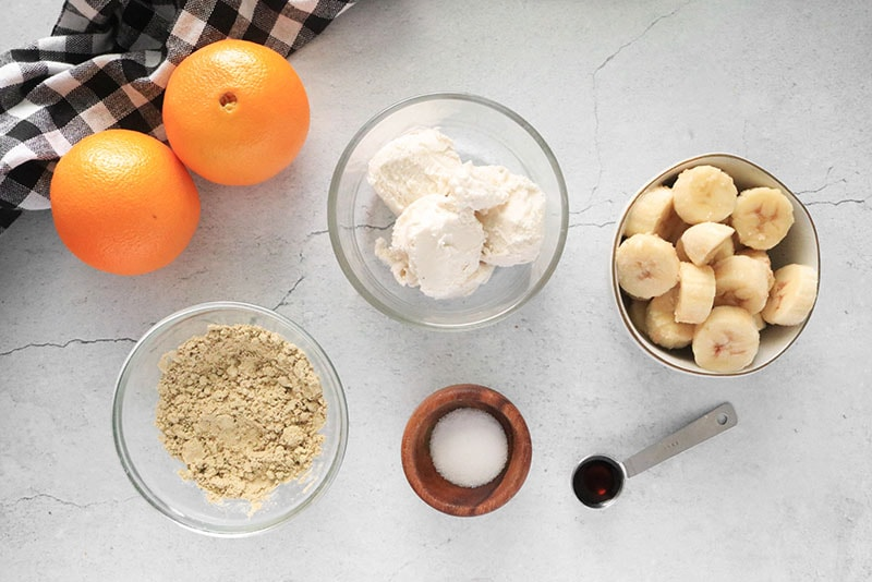 Ingredients for an Orange Creamsicle Smoothie