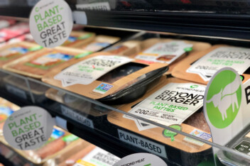 Beyond Meat plant-based meat in a grocery store in New York