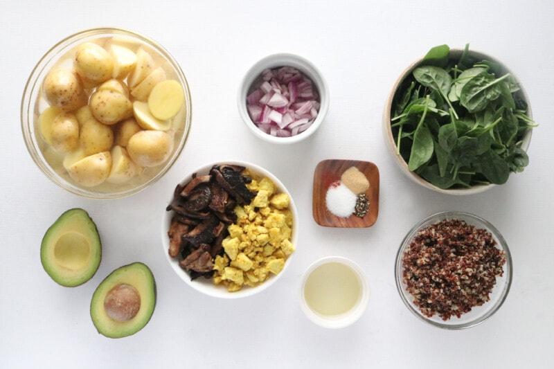 Ingredients for Savory Vegan Breakfast Bow