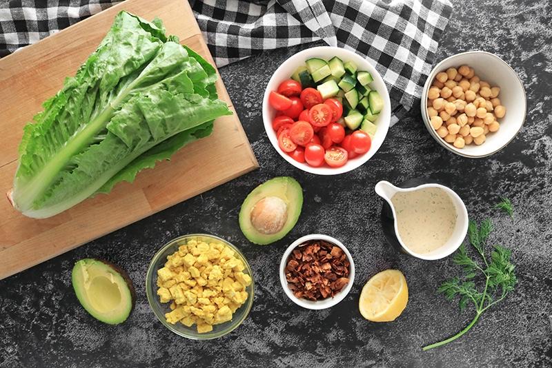 Vegan Cobb Salad Ingredients