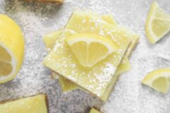 Creamy Vegan Lemon Bars