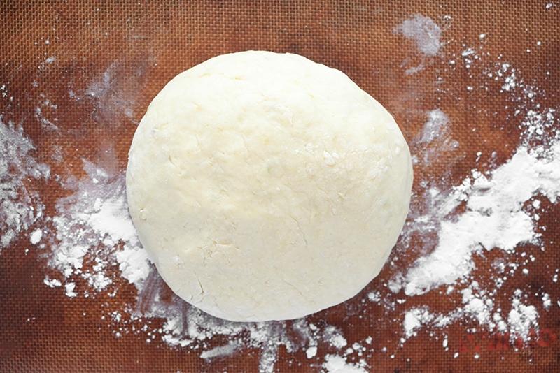 Gnocchi dough on a silpat