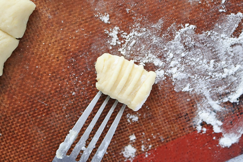 Potato Gnocchi with fork indentations
