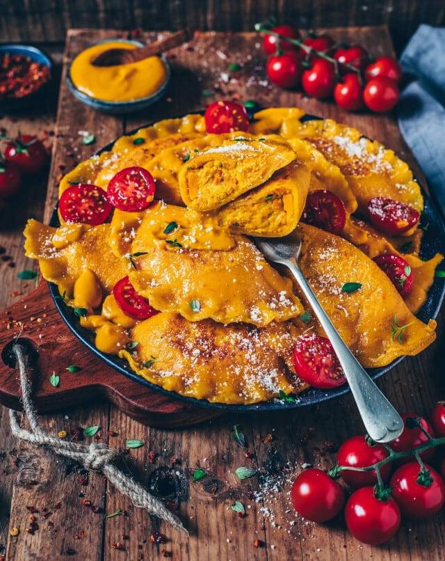 Vegan Pumpkin Ravioli