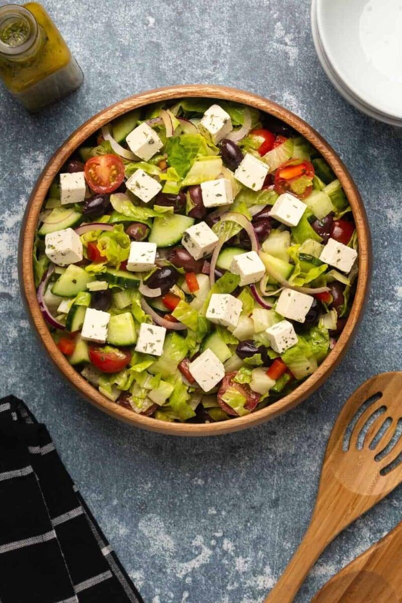 Vegan Greek Salad by Loving It Vegan