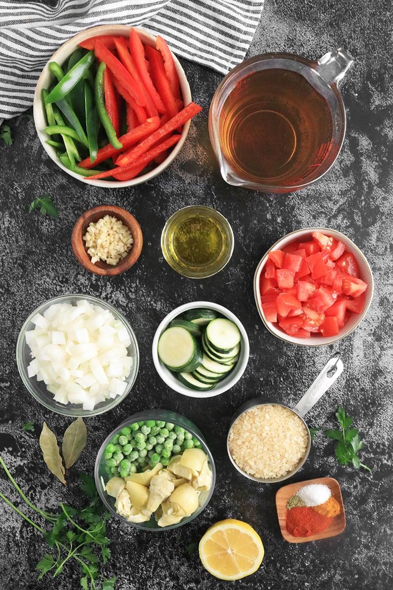 Ingredients for Vegetarian Paella